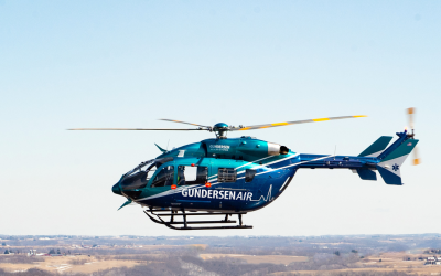 Metro Aviation provides flight demos of the EC145e at AMTC
