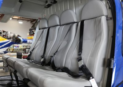 Interior from refurbished Buenos Aires AS350 B3 aircraft completed by Metro Aviation