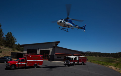 AirLink lands at Klamath County Fire District Station #5