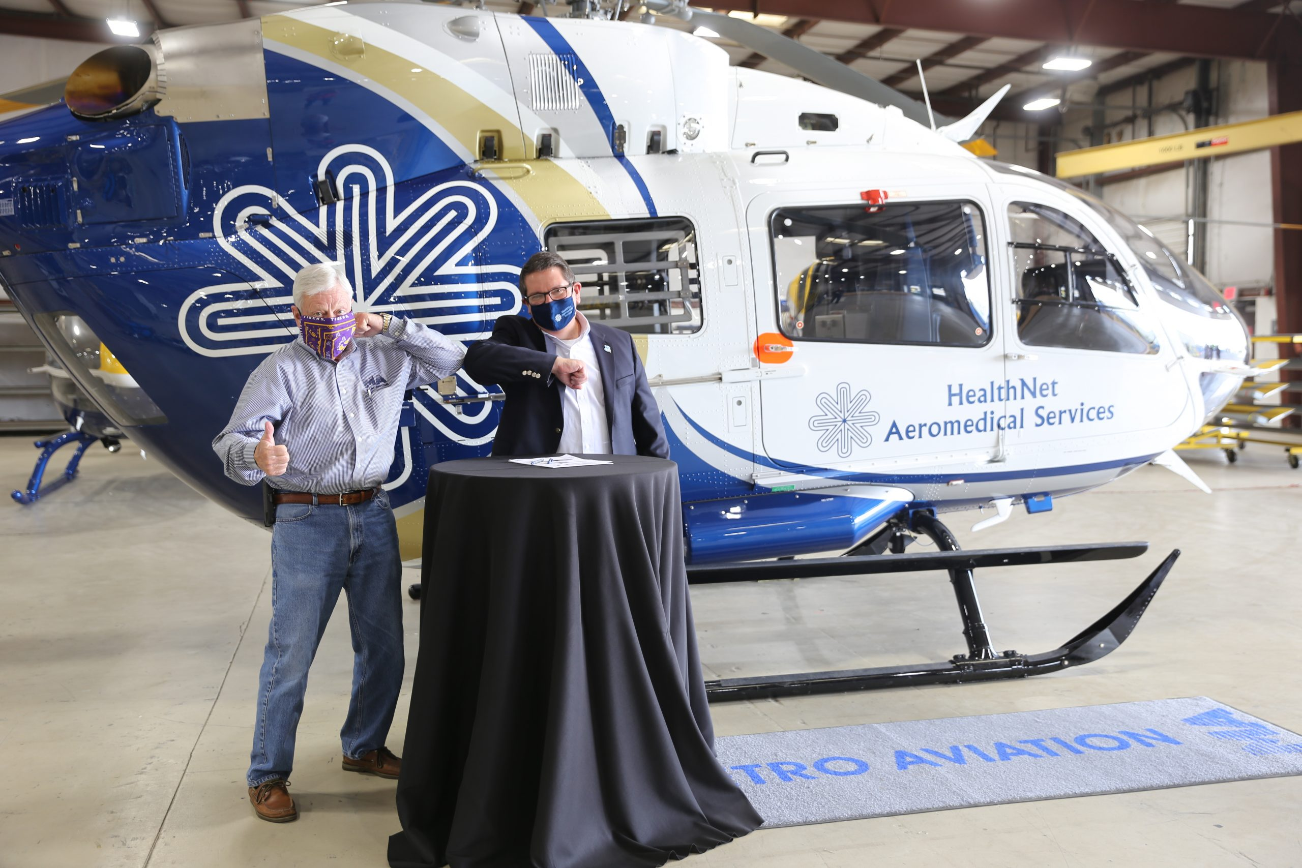 Metro Aviation delivers EC145e to HealthNet