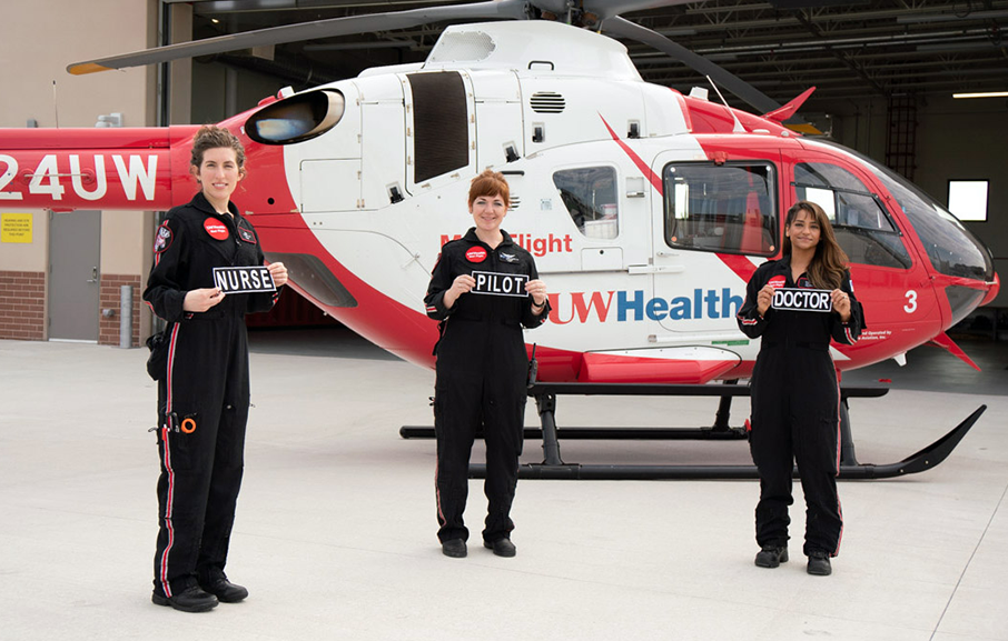 UW Med Flight's first all-woman crew makes history