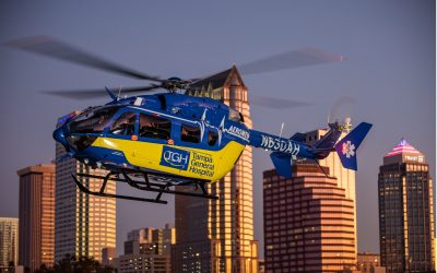 Metro Aviation delivers EC145e to Tampa General Hospital